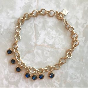 Fornash Jewelry - Fornash | Faux Sapphire Short Chain Necklace